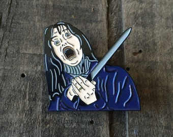 The Shining Enamel Pin, Wendy Torrance (Also Available as a Set with Jack/Johnny!)