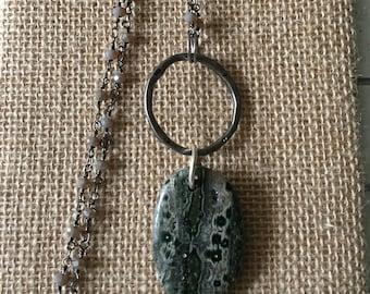 Ocean Jasper long necklace