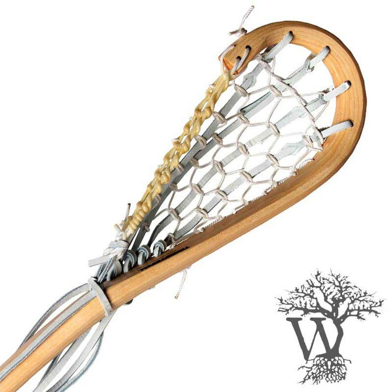Traditional Lacrosse 6ft Defensive Wooden Lacrosse Stick Engraved