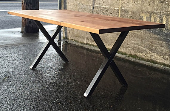 Reclaimed Wood Dining Table Handcrafted In Portland OR   Etsy