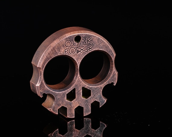 Stonewashed Compact Copper Skully Multi-Tool .5""