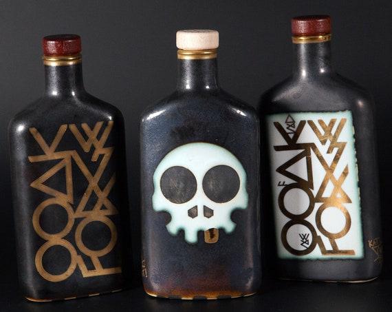 OOAK Forge Ceramic Flask