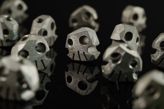 Aluminum Skully Bead