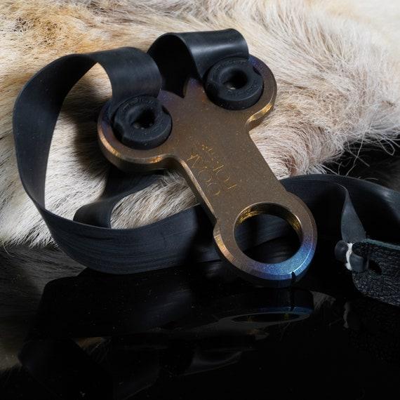 Titanium 'Nut Shot' Slingshot, Chode Size