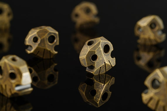 Brass Skully Bead