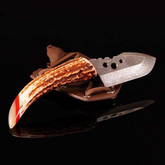 Pallid Swift Knife with Sambar Stag Handle