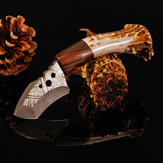 Swift Knife with Stag and Ziricote Handle