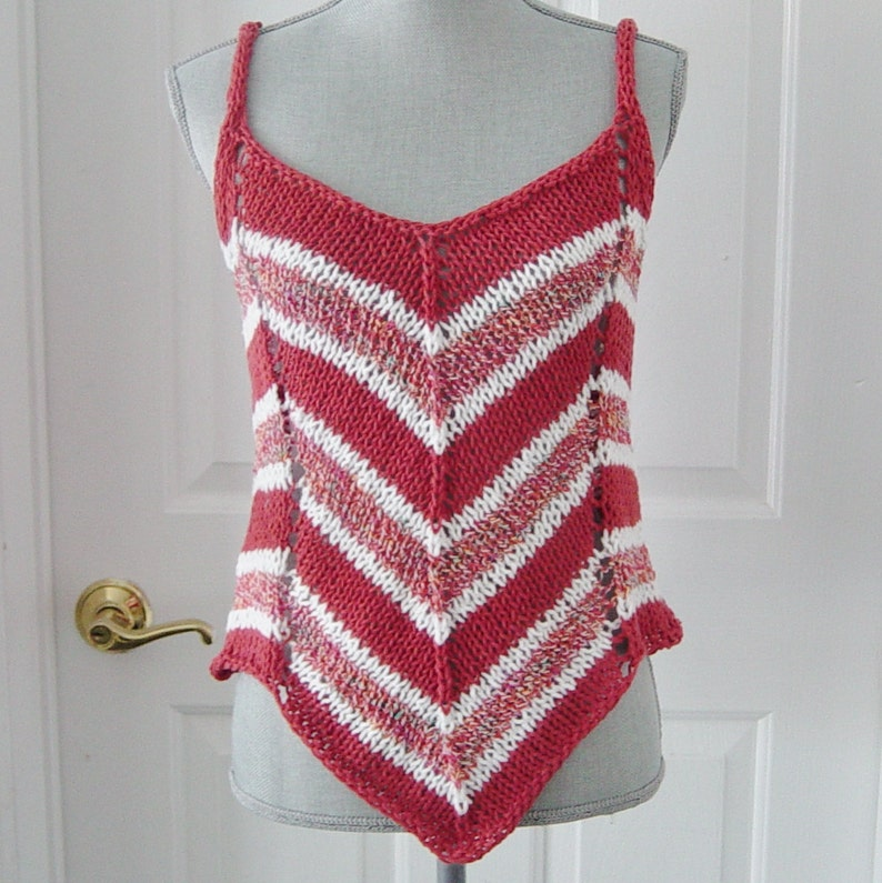 83951b26c36c5 Coral Knit Tank Top Striped Camisole Coral   White