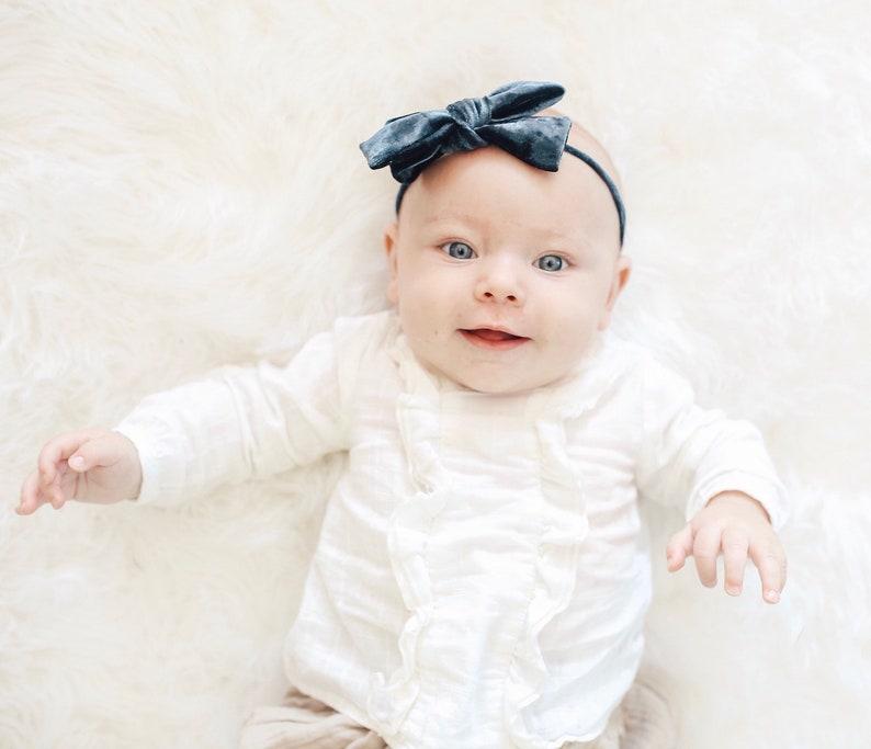 Velvet bows velvet headbands velvet baby headbands velvet bow baby velvet hair bows velvet clips velvet bow clips baby headbands