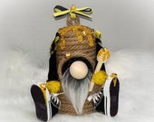 Beehive Handmade Gnome, Nordic Gnome, Tomte, Nisse, Gonk, Bee Gnome, Sneakers, Honey, Bee Hive
