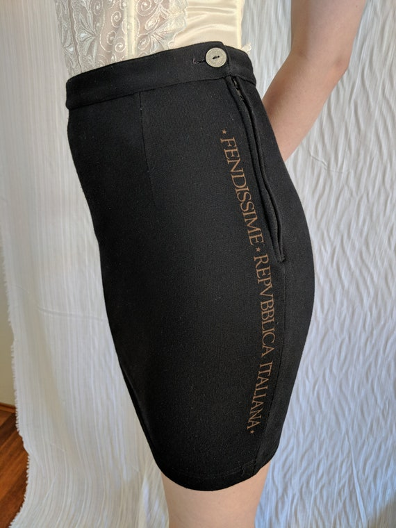 Fendi Fendissime 1960's mini skirt