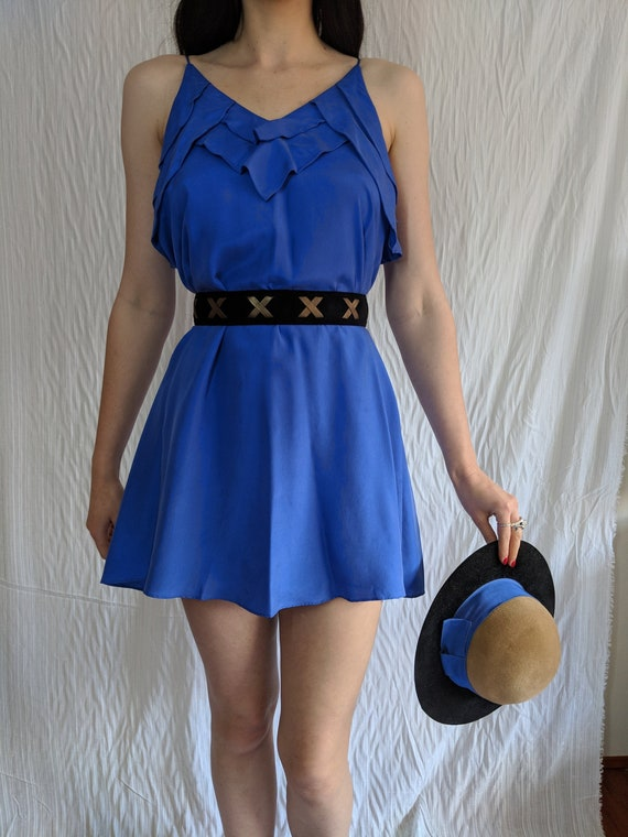 Zimmerman blue silk singlet dress