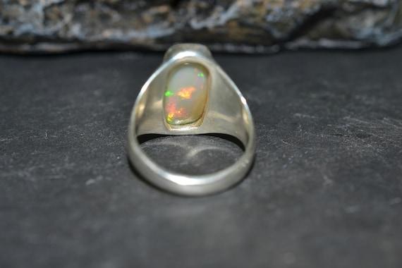 Opale bague, bague en argent opale, opale bague bijoux, taille 9, bague opale en argent Sterling opale, opale de l'anneau 1f090e