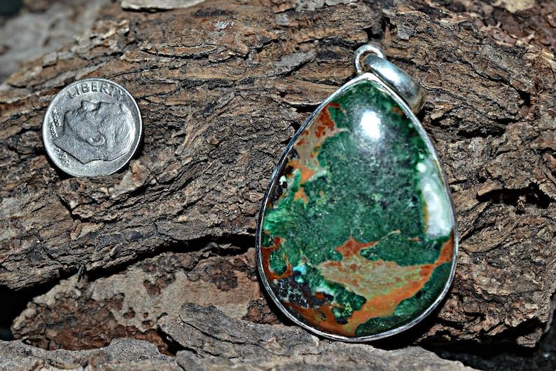 Chrysocolla Necklace Handmade Jewelry Silver Jewelry Chrysocolla Pendant Pendant Chrysocolla Silver Pendant Chrysocolla Jewelry