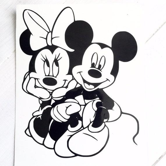 Disney Mickey Minnie Kiss Decal Vinyl Sticker Car Window Wall Cute Walt Love