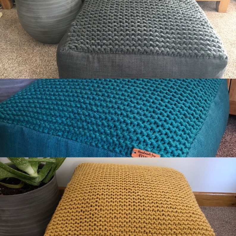 Floor Cushion Ottoman Storage 18 Square 9 Height Available In Colour Choices And Sizes Memory Foam Filling Custom Orders Welcome