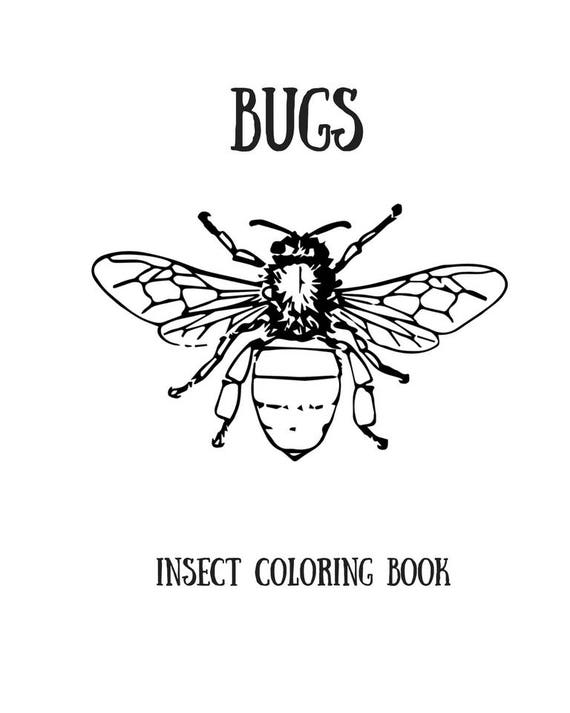 photo relating to Printable Bugs named Printable Insects Coloring Reserve /Grownup Coloring Reserve/Printable Electronic PDF Down load/Developed-up Coloring Reserve
