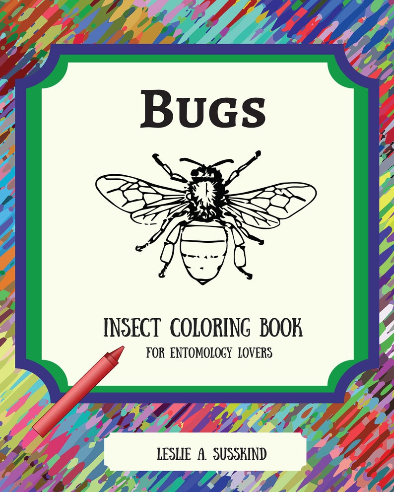 image about Printable Bugs identified as Printable Insects Coloring Guide /Grownup Coloring Ebook/Printable Electronic PDF Obtain/Developed-up Coloring E book