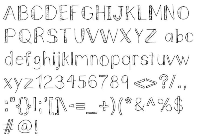BUNDLE - 3 FONTS Victoria Hand Drawn Font  ttf, hand drawn font, hand drawn  font for word,