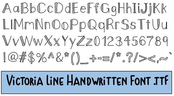 Victoria Lines Hand Drawn Font  ttf