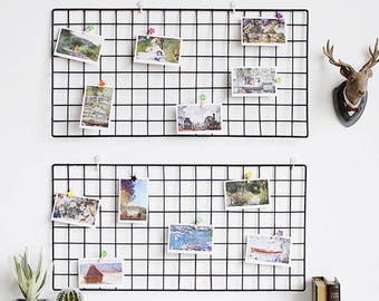 2 Sets Of Grid Photo Wall Wire Mesh Display Panel Decorative Etsy