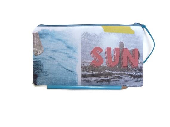 Sun En Surf Etui Van Katoen Met Rits Zomerse Print Surf En Etsy