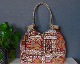 Gobelin hobo bag, tapestry shoulder bag, colorful tote bag,African motives, unique tote bag,  ethnic bag, colorful tote bag, lovely purse