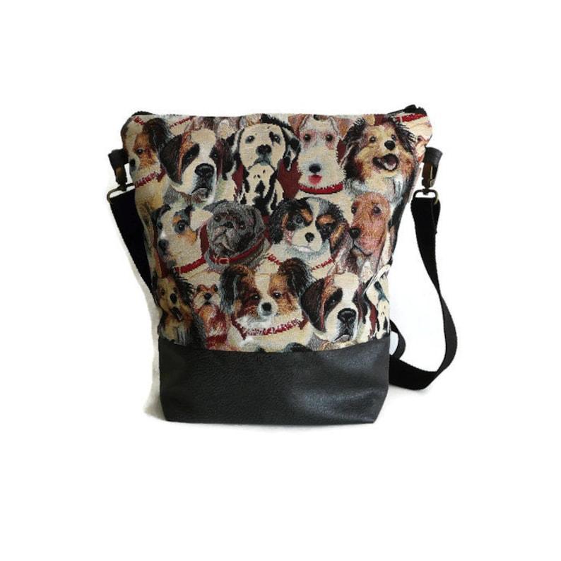 20ae3b7678a Crossbody tas schoudertas voor de hondenliefhebber gobelin | Etsy