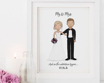 Wedding Art Print Etsy