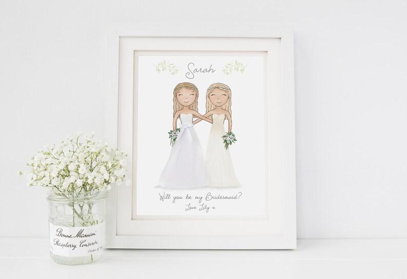 0ab8b185eeab Will you be my Bridesmaid Thank you Gift Bridesmaid
