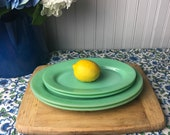 Fire King Jadeite Restaurant Sandwich Platter, Vintage Jadeite Oval Serving Plate, Fire King Collectible Glassware, Green Milk Glass Platter