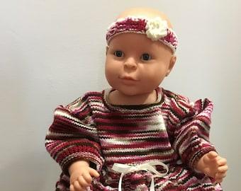03d1398fabe79 Ensemble de tricot bébé fille