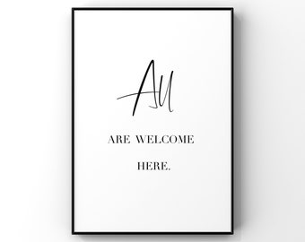 All Are Welcome Art Etsy