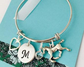Horse Bracelet, Personalized Horse Bracelet, Horse Jewelry, Little Girls Bracelet