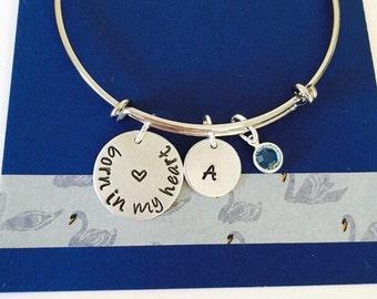 Born in My Heart Bracelet, Adoption Bracelet, Adoption Jewelry, Adoption Gift, Personalize Bracelet