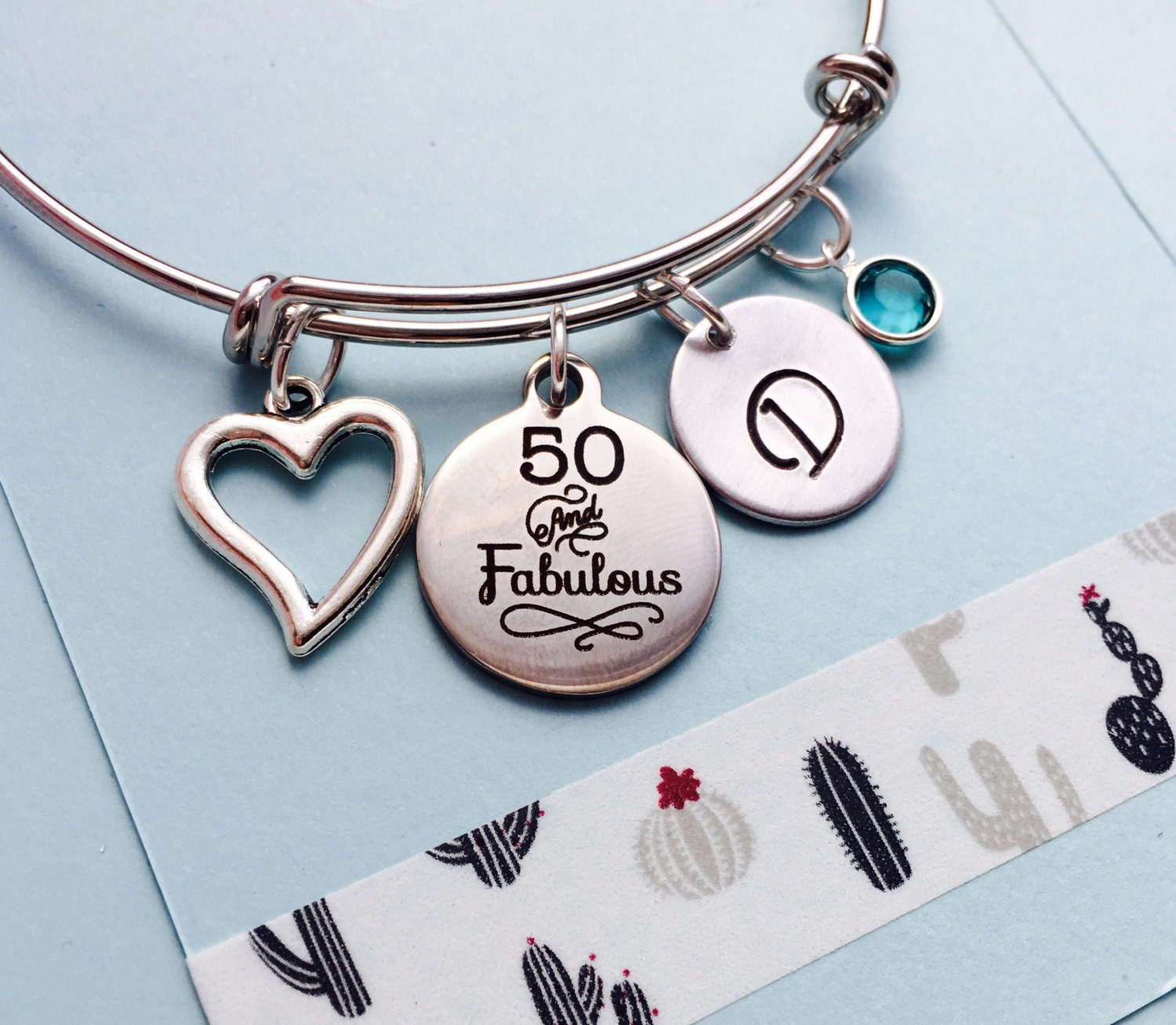 50th Birthday Bracelet 50th Birthday Bracelet Fifty And