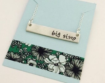 Sisters Necklace, Sisters Bar Necklace, Bar Necklace, Sister Necklace, Sister Gift, Personalized Bar Necklace, Sister Jewelry