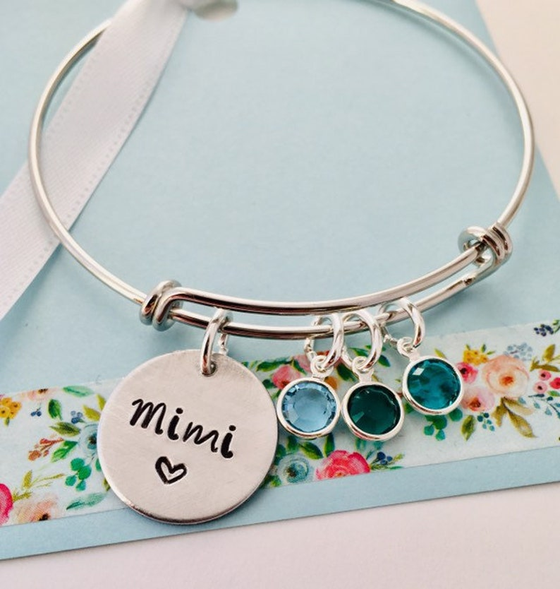 Personalized Grandma Bracelet Silver Mimi Bracelet Grandma image 0