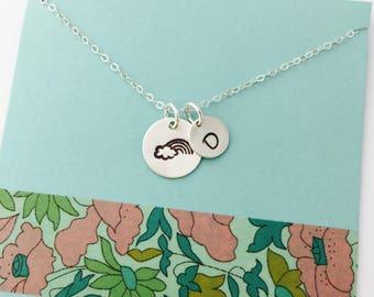 Rainbow Baby Necklace, Rainbow Baby, Rainbow Baby Jewelry, New Mom Necklace