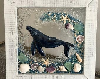 Whale Seashell Frame