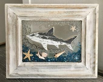 Shark Glass Beach Frame