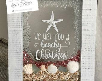 We Wish You A Beachy Christmas Frame