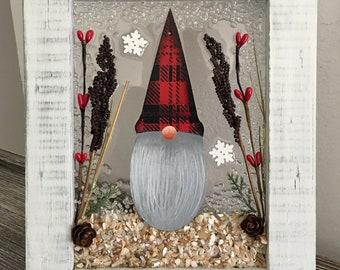 Gnome Christmas Frame