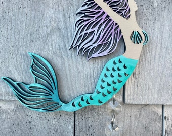 Mermaid Prism Rear View Mirror Dangle