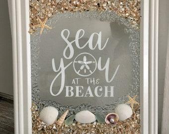 Sea You At The Beach Seashell Frame