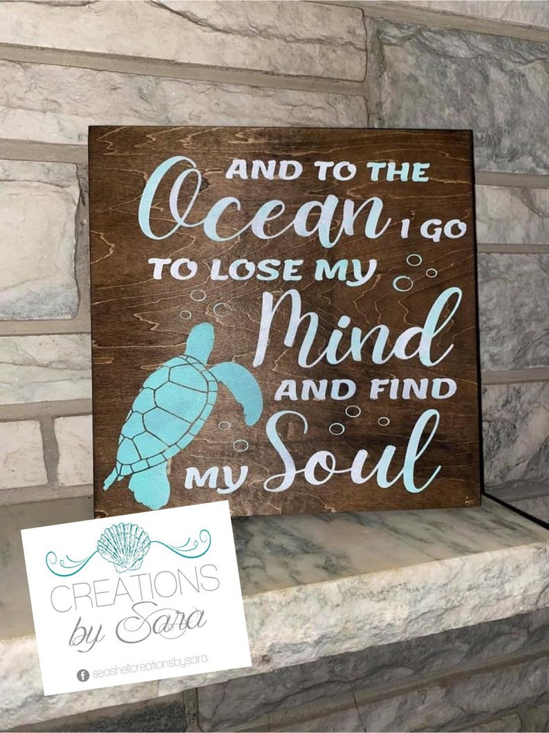 20. Sea Turtle Wooden Sign
