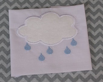 Baby Applique Machine Embroidery Design Rain Cloud