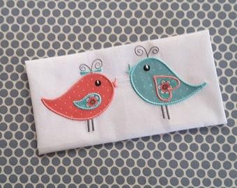 Baby Birds Applique  Machine Embroidery Design Instant Download