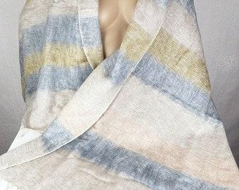 Châle en laine beige gris, pashmina laine ethnique, châle en laine, etole foulard  echarpe shawl stole CPLY5 21082e677a4