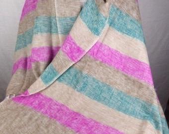 e45a7b5ba818 PASHMINA ETHNIQUE LAINE de yak, beige rose, chale ethnique etole foulard  echarpe shawl stole PLY2
